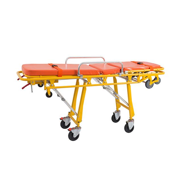 医院用不锈钢救护车急救担架推车病人运输手推车